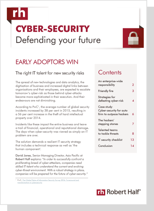 IT and Cyber Security Trends: Report   Robert Half